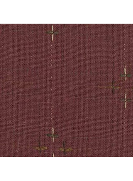 Diamond Textiles Primitive Rustic Burgandy Pluses and Lines