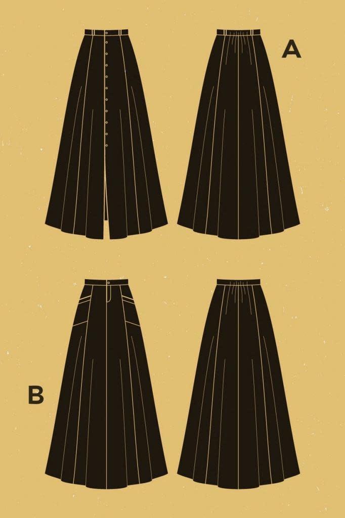 Deer and Doe Deer and Doe Fumeterre Skirt Pattern
