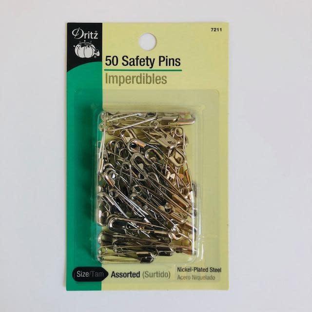 EE Schenck Dritz Safety Pins Assortment sizes 1 & 2