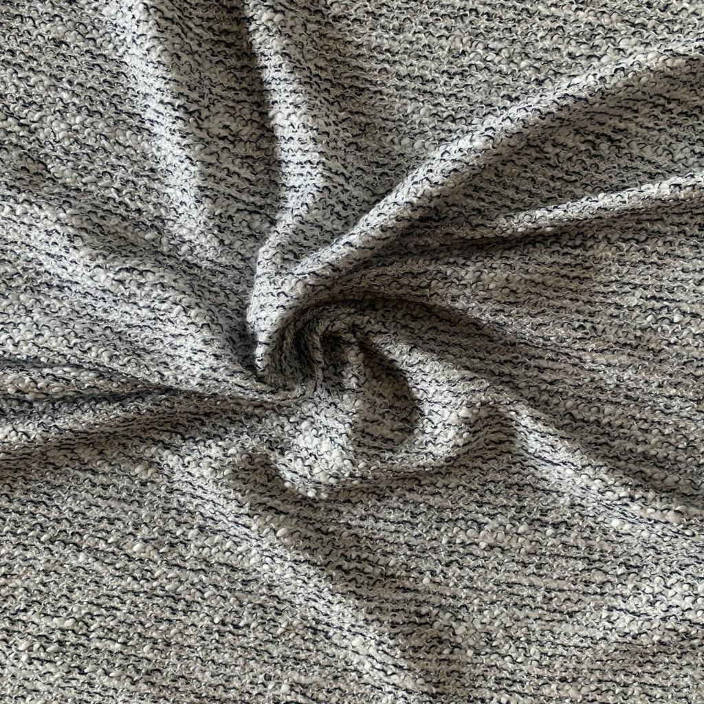 S. Rimmon & Co. Boucle Sweater Knit White/Black