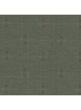 Diamond Textiles Nikko Indigo Granite Army Green Pluses