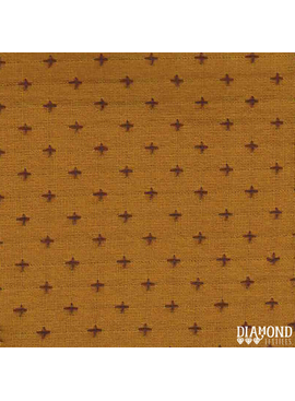 Diamond Textiles Manchester Mustard Grape Pluses