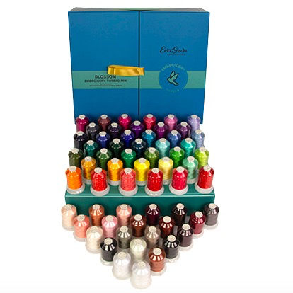 Eversewn Eversewn Embroidery Thread Box Top Color Blossom Mix 60 Spools