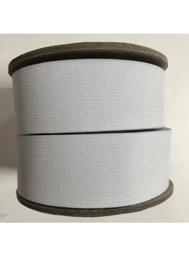 "Conrad Jarvis White Knit Elastic 1 1/2"""