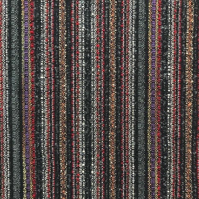 Fabric Mart Italian Wool Blend Stripe Black/Multi