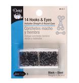 Dritz Hook & Eyes Black Size 3