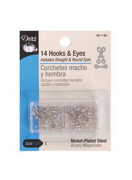 Dritz Hook & Eyes Nickel Size 1