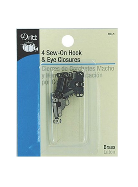 Dritz Hook & Eye Closures Black