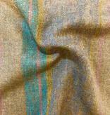 Fabric Mart Scotland Wool Taupe with Multi Stripe