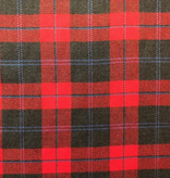 Fabric Mart Tartan Wool Red with Black / Blue Check