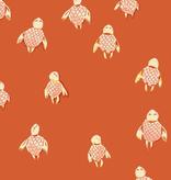 Windham Fabrics Malibu by Heather Ross Sea Turtles Orange