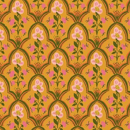 Windham Fabrics Malibu by Heather Ross Wood Block Olive