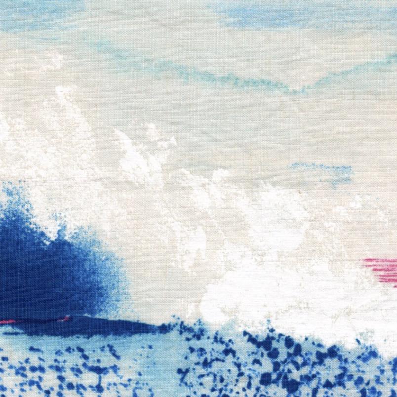 Kokka Nani Iro Saison Linen Canvas Blue