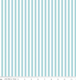 "Riley Blake 1/8"" Stripe Aqua by Riley Blake"