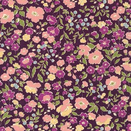 Robert Kaufman Sevenberry Petite Garden Purple