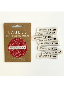 """Kylie and the Machine Kylie and the Machine Labels Sewing Tags """"Sewing Is My Jam"""""""