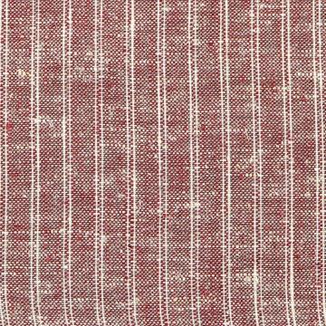 "Pickering International Hemp / Organic Cotton Maroon Ticking 3.8oz—56"" wide"