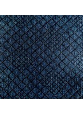 Elliot Berman Navy Blue Quilted Knit