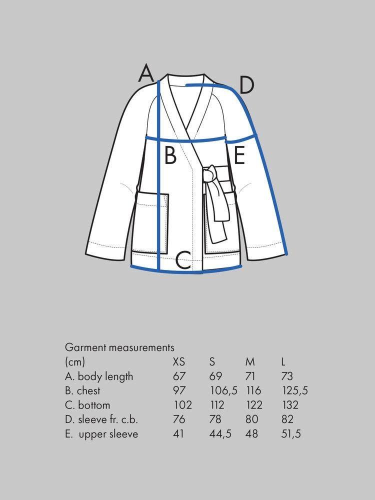 The Assembly Line Patterns Wrap Jacket pattern by The Assembly Line Patterns