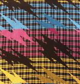 AKN Fabrics Woven African Kente CMYK Lighting Bolts