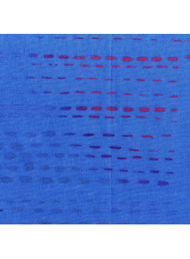 Andover Stitched by Alison Glass Cobalt Running Stitch