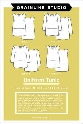 Grainline Studio Uniform Tunic Pattern by Grainline Studio - Sizes 14-30