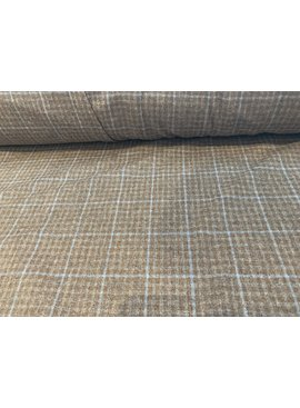 Fabric Mart Raw Umber Sky Blue Suiting