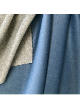 Fabric Mart Blue Grey Double Faced Coating