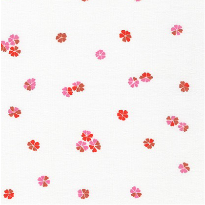 Robert Kaufman Cherry blossom Knit Vanilla