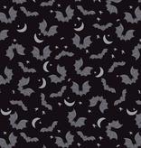 Riley Blake Spooky Hollow Bats Black Sparkle