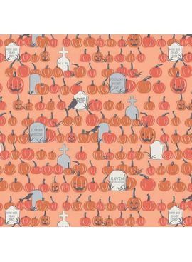 Riley Blake Spooky Hollow Pumpkin Field Orange