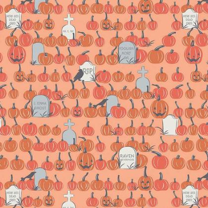 Riley Blake Spooky Hollow Pumpkin Field Orange