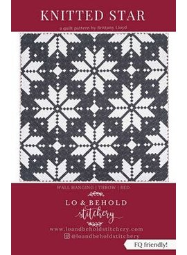 Lo & Behold Stitchery Knitted Star Quilting Pattern by Lo & Behold Stitchery
