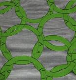 Fabrics USA Inc Ankara Wax Print—Kelly Green Rings