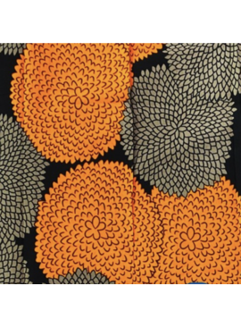 Fabrics USA Inc Ankara Wax Print—Orange Brown Marigolds