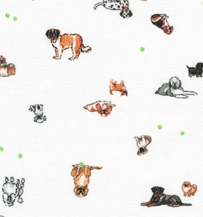 Robert Kaufman Petit Dogs White