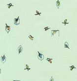 Robert Kaufman Petit Aqua Birds