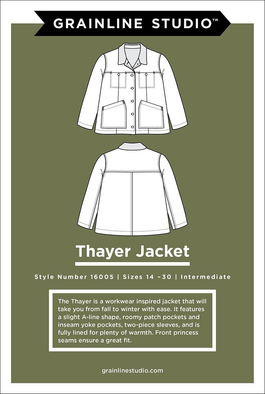 Grainline Studio Thayer Jacket Pattern by Grainline Studio - Sizes 14-30