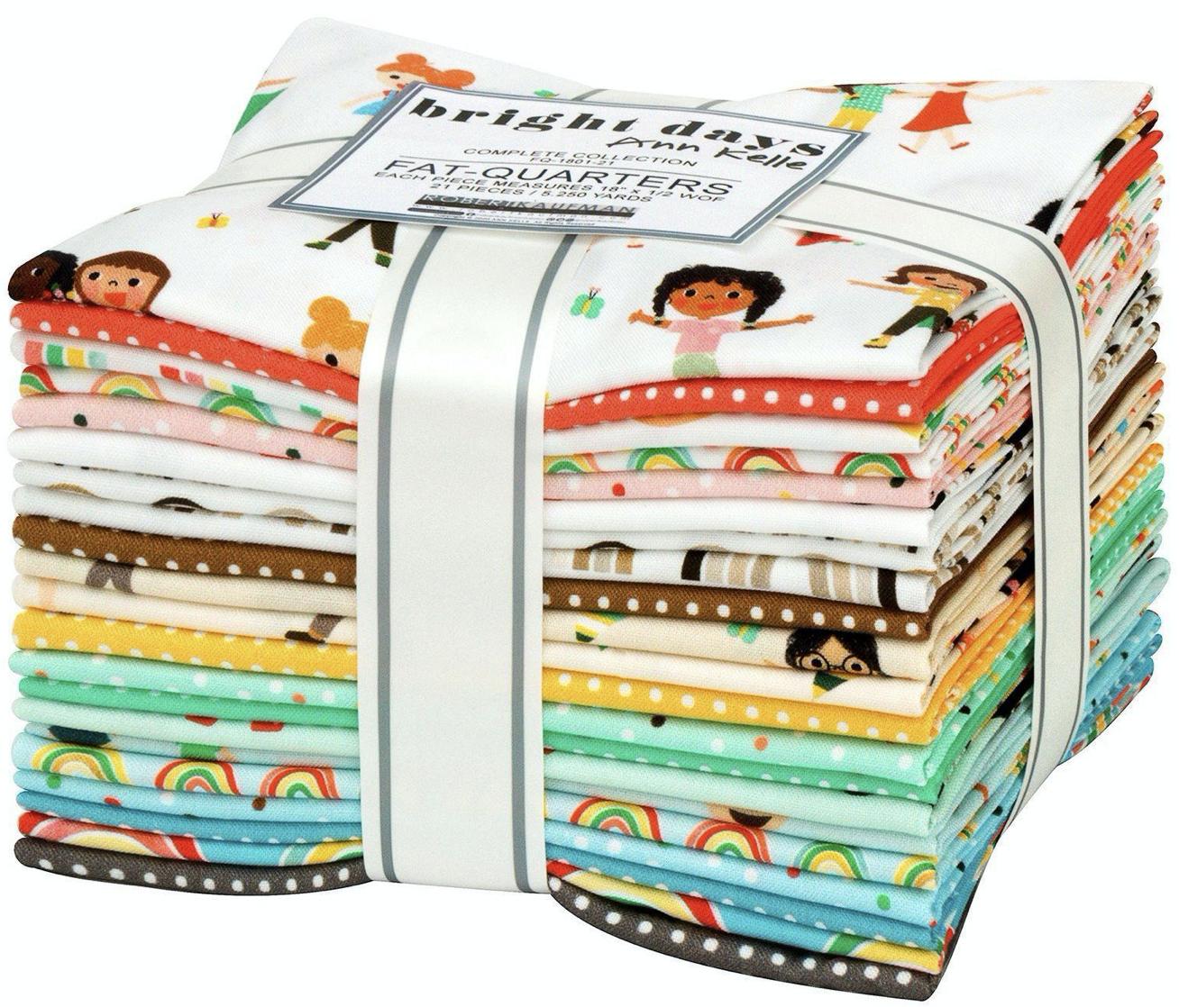 Modern Domestic 21 Piece Fat Quarter Bundle - Bright Days by Ann Kelle