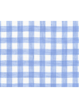 Robert Kaufman Limerick Linen Yarn Dyed-Periwinkle - Big Check