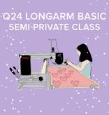 Q 24 Longarm Basic, Tuesday & Wednesday July 13 & 14, 9:30 - 11:30am