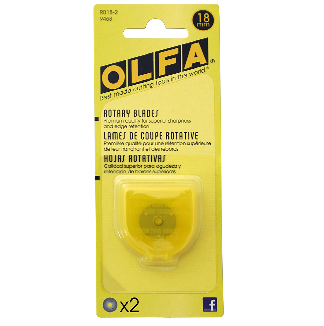 Olfa Olfa 18mm Replacement Rotary Blade 2/pkg