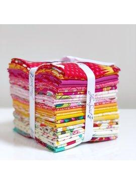 Freespirit Tula Pink Curiouser and Curiouser 24 Fat Quarter Bundle Wonder (Warm Colors)