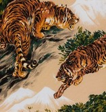 Alexander Henry Tora Tiger Color Linen by Alexander Henry