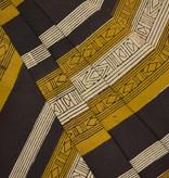 Navyas Fashion Mustard Black Striped Bagru Block Print
