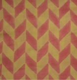 Navyas Fashion Pink Designer Block Printed Cotton Fabric
