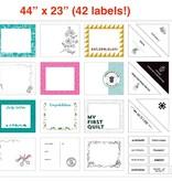 """FIGO Label Panel by Figo 24"""" x 43"""" (sold per panel)"""