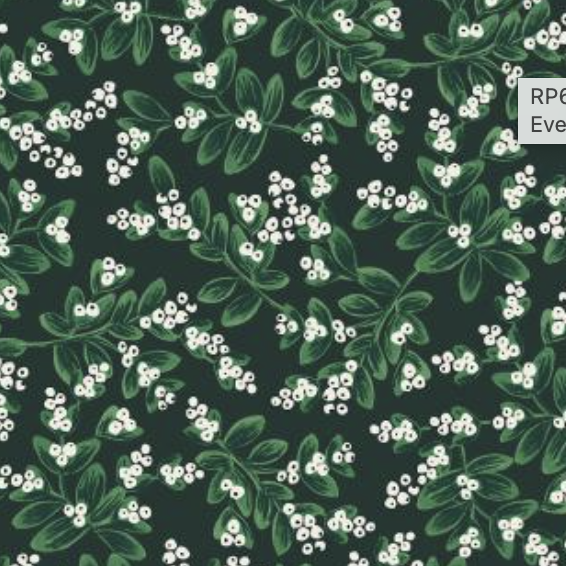 Cotton + Steel Holiday Classics by Rifle Paper Co. Mistletoe Evergreen