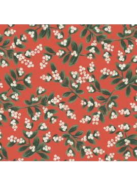 Cotton + Steel Holiday Classics by Rifle Paper Co. Mistletoe Red