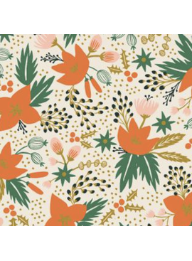 Cotton + Steel Holiday Classics by Rifle Paper Co. Poinsettia Cream